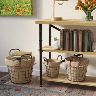 Find for Circular Rustic Vintage-Inspired Metal 3 Piece Basket Set By August Grove