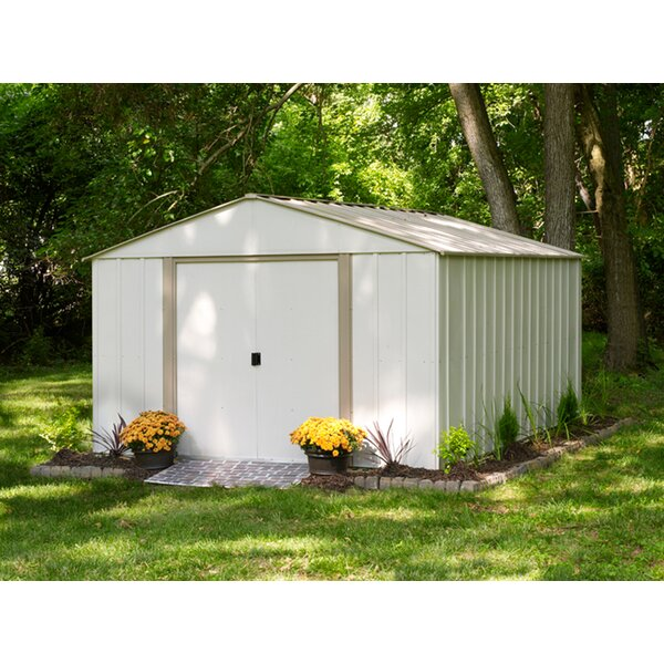 Garden Sheds 10 X 3 arrow oakbrook 10 ft. 3 in. w x 13 ft. 7 in. d metal storage shed