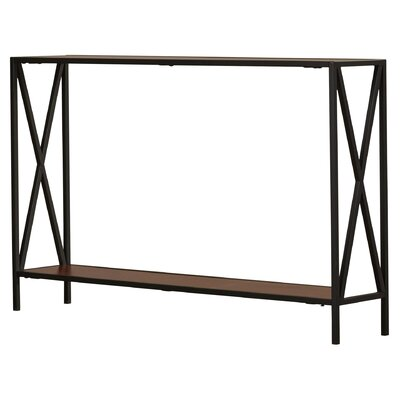 Abbottsmoor Metal Frame Console Table Color: Cherry by Andover Mills