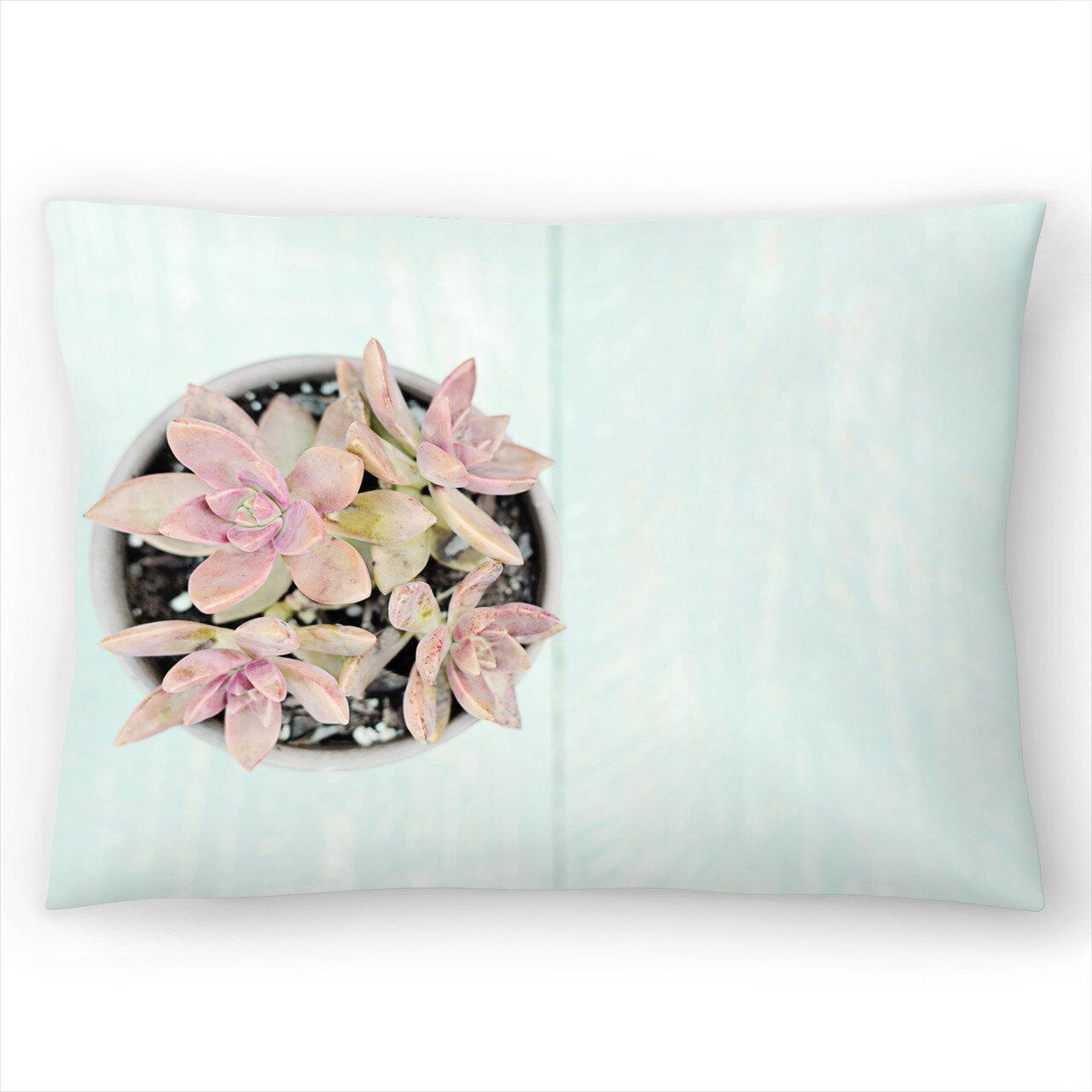 East Urban Home Succulents Lumbar Pillow Wayfair