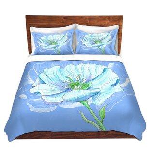 East Urban Home Blue Flower Duvet Set