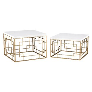 Mercer41 Weatherly 2 Piece Nesting Tables