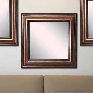 Charlton Home Kimzey Bronze Wall Mirror (Set of 3)