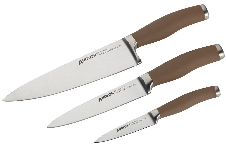anolon 3 piece chef knife set wayfair