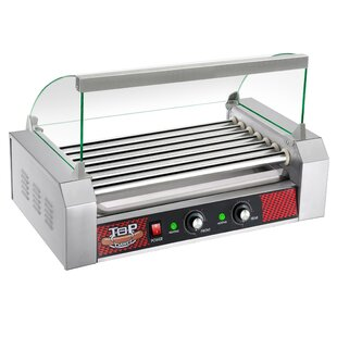 7 Roller Hot Dog Grilling Machine with Cover