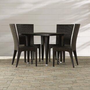 Mercury Row Morphis 5 Piece Outdoor Dining Set