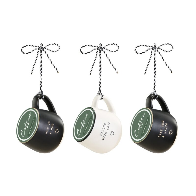 Latitude Run 3 Piece Funkhouser Love Coffee Pod Mug Ornaments Sculpture Set Wayfair