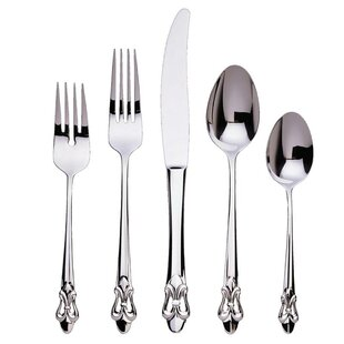 Fleur de Lis 5 Piece Flatware Set, Service for 1