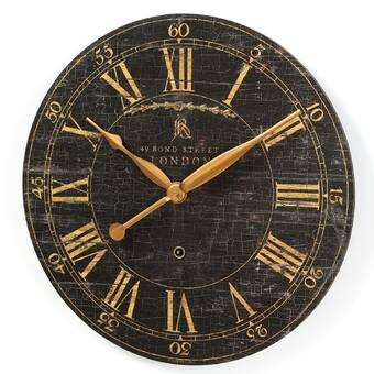 Saint Benoit 18 Round Wood Wall Clock Reviews Joss Main