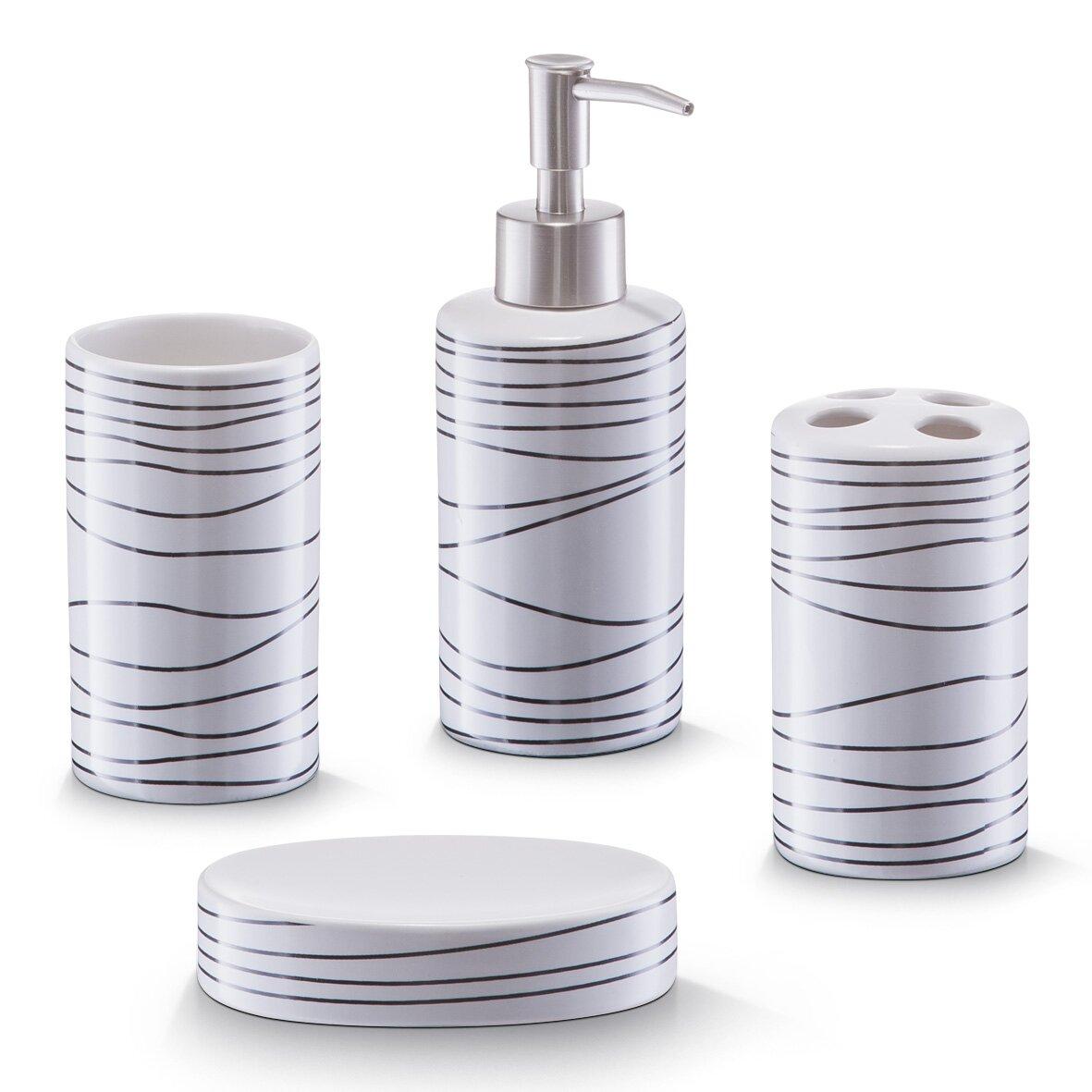 Badezimmer zubehör  Zeller Badezimmer-Zubehör-Set & Bewertungen | Wayfair.de