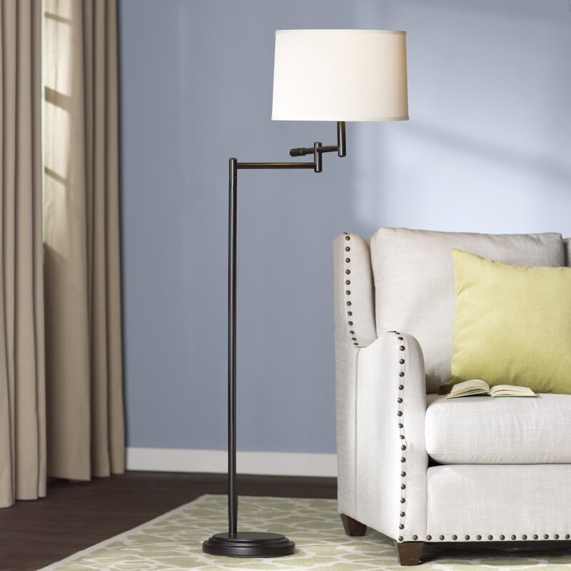 hamill 60 swing arm floor lamp rustic floor lamps you ll love wayfair