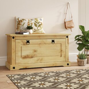Review Larry Wood Storage Hallway Bench