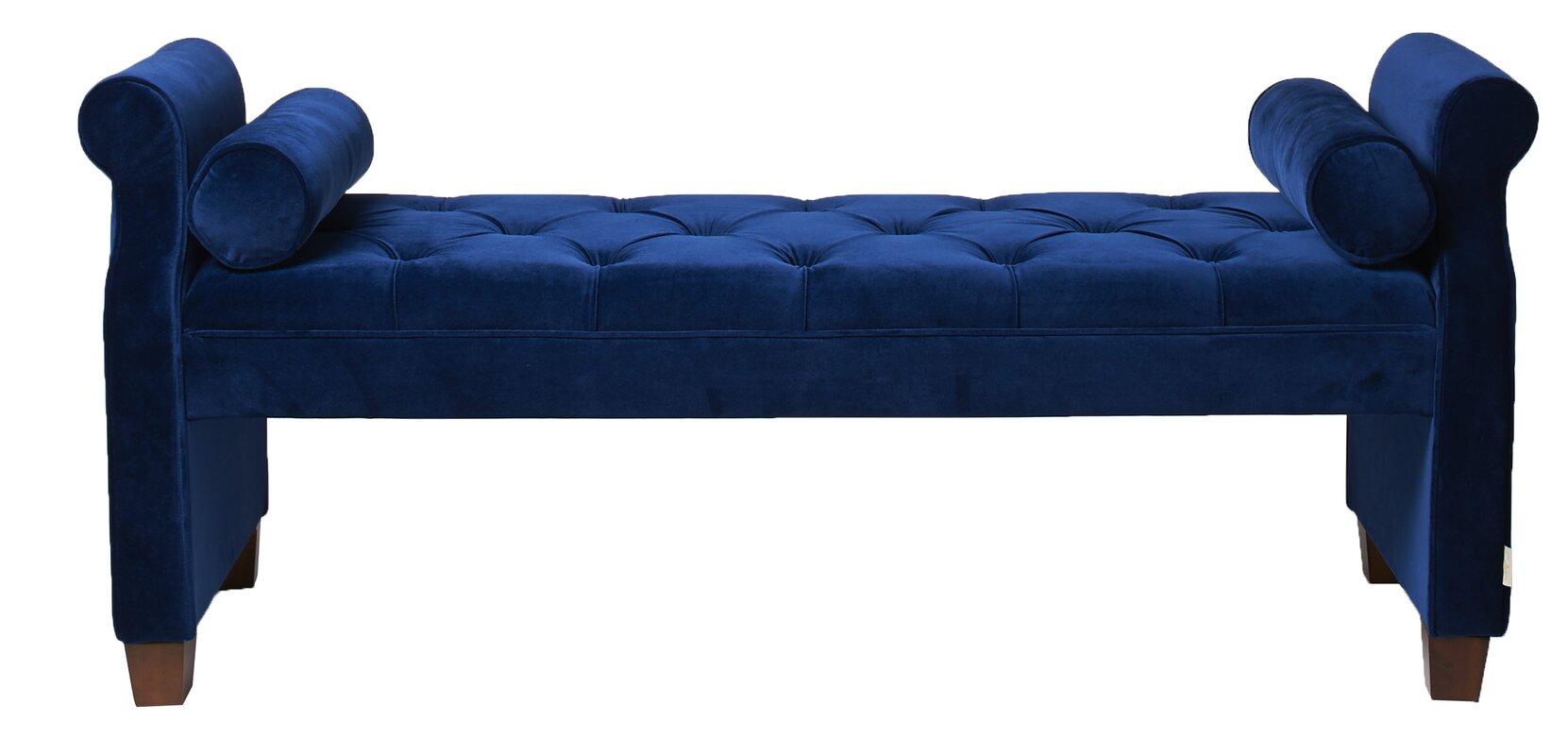 everly quinn belby upholstered bedroom bench  reviews  wayfair - defaultname