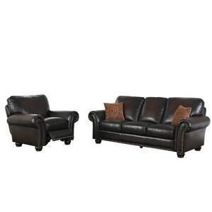 Fallsburg 2 Piece Leather Living Room Set by..