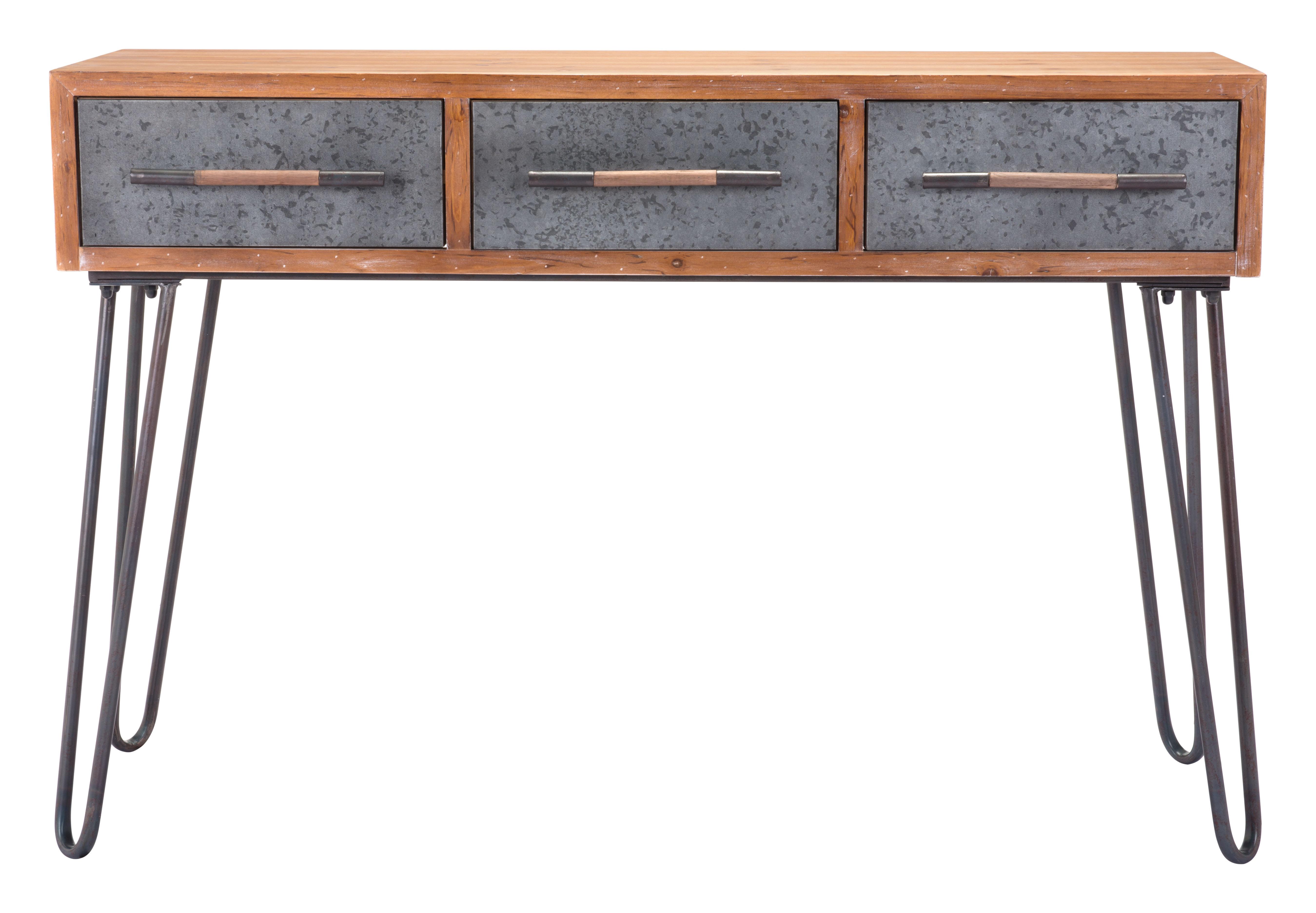 Williston Forge Lucina Metal Console Table | Wayfair