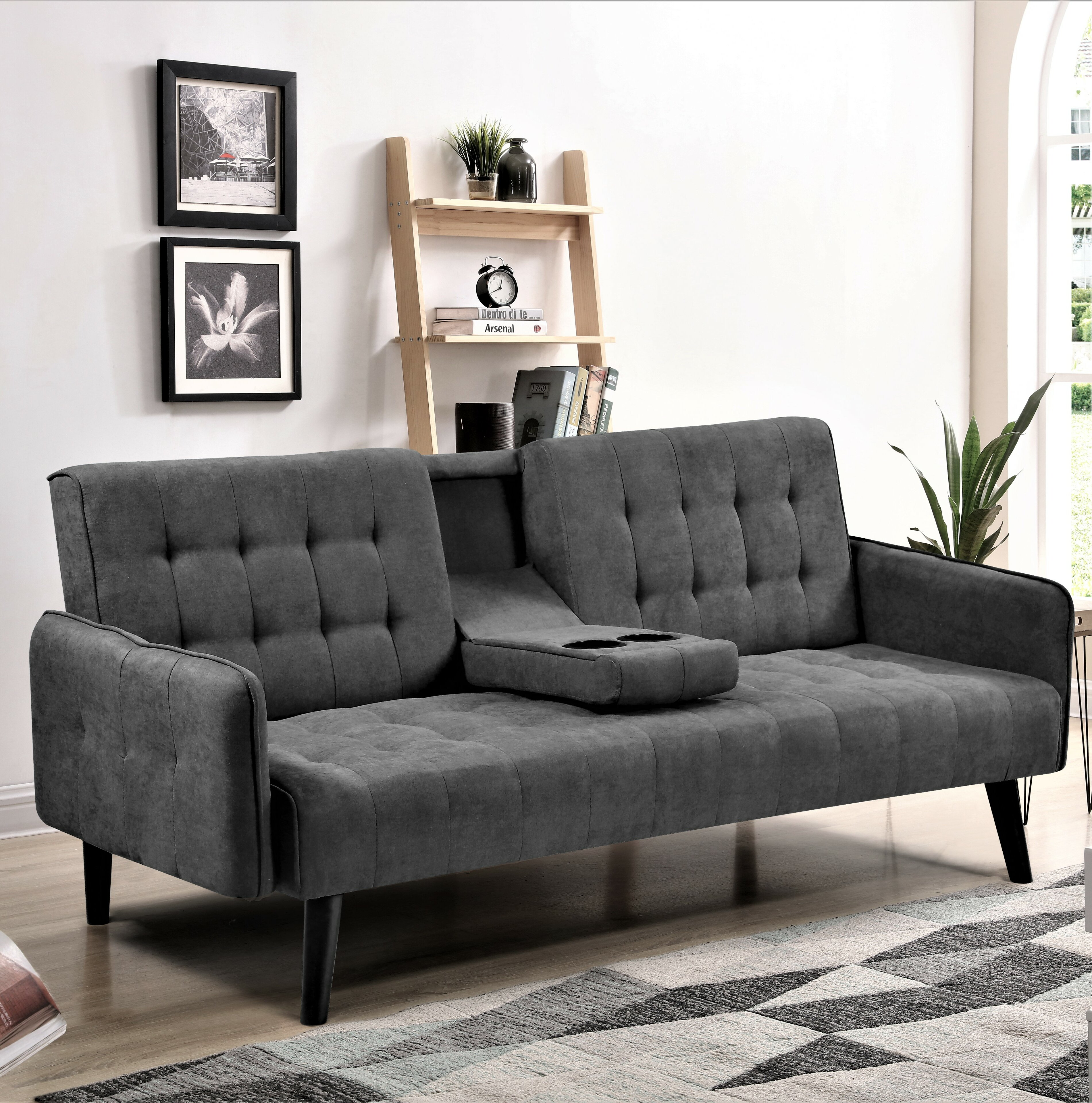Sleeper Sofa With Cup Holders | Wayfair
