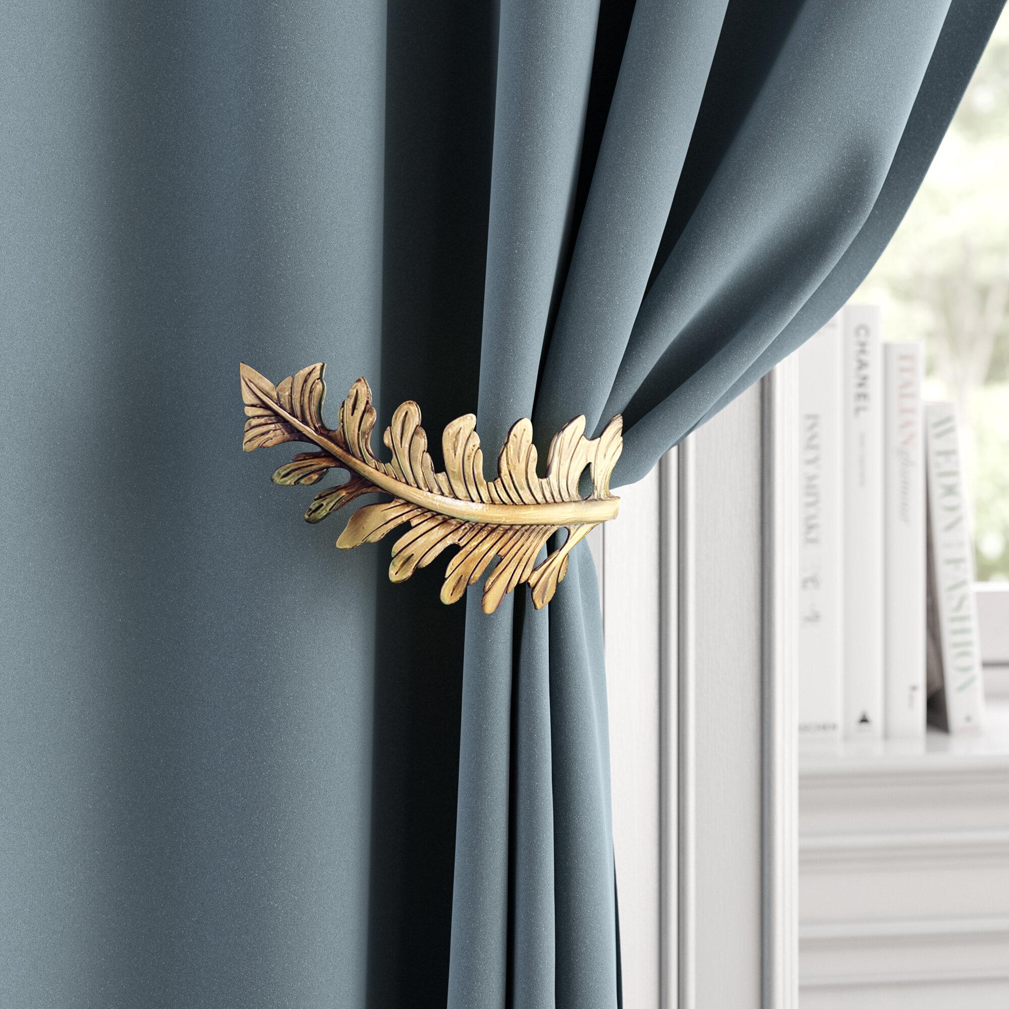 /… Beige, 2 Pack YOLIFE Strong Magnetic Curtain Tiebacks 16 inch Durable Curtain Holdbacks Modern Designed Tie Backs for Curtain Drape Holder Braided Rope Holdback