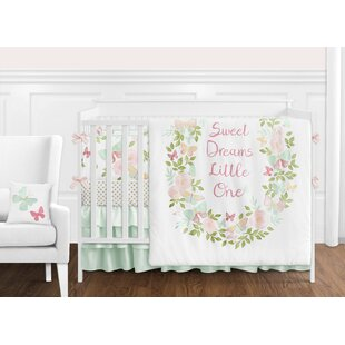 Butterfly Floral 9 Piece Crib Bedding Set By Sweet Jojo Designs
