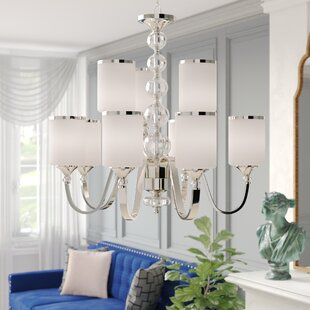 Carlitos 9-Light Shaded Chandelier by Willa Arlo Interiors