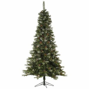 Iced Sonoma Pencil 4.5' Green Spruce Artificial Christmas Tree with Unlit