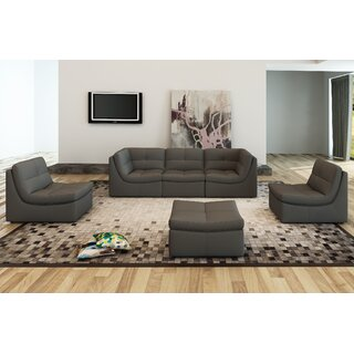 Weisman Reversible Modular Sectional with Ottoman by Brayden Studio SKU:DB561391 Guide