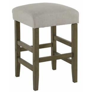 Gaffney Square Wooden 24.5 Bar Stool by Gracie Oaks