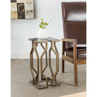 Ivy Bronx Lundstrom Geometric End Table