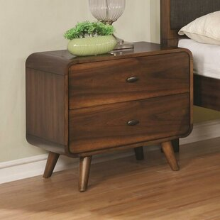 Reviews Camire 2 Drawers Nightstand by Union Rustic