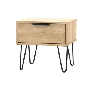 Falls City 1 Drawer Bedside Table By Mercury Row