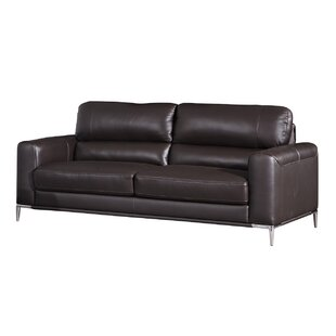 Hennis Leather Sofa by Orren Ellis