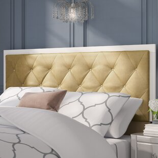 Willa Arlo Interiors Harmen Button-Tufted Velvet Upholstered Panel Headboard