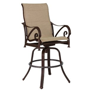 Lucerne Sling Swivel Patio Bar Stool