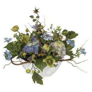 Hydrangea Centerpiece In Bowl