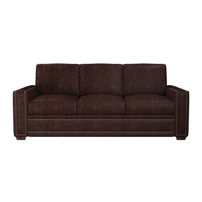 Birch Dallas Leather Sofa Bed