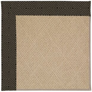 Lisle Machine Tufted Magma/Brown Indoor/Outdoor Area Rug
