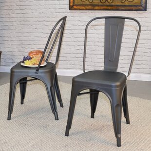 Sroka Metal Slat Back Side Chair Set of 2 by Trent Austin Design