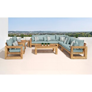 Mcclain 9 Piece Sectional Seating Group with Cushions by Rosecliff Heights