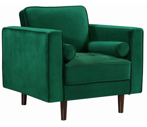 Admirable Modern Contemporary Emerald Green Velvet Chair Allmodern Alphanode Cool Chair Designs And Ideas Alphanodeonline