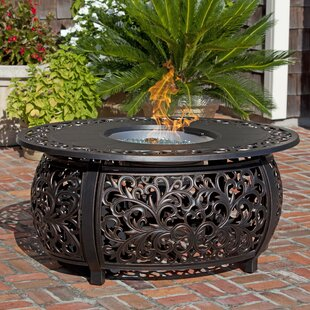 Fire Sense Toulon Aluminum Propane Fire Pit Table