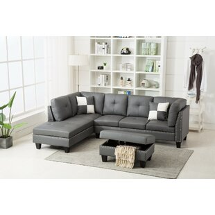 Ebern Designs Bush Sectional with Ottoman