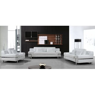 Coalpit Heath Leather Living Room Set (Set of 2) by Orren Ellis