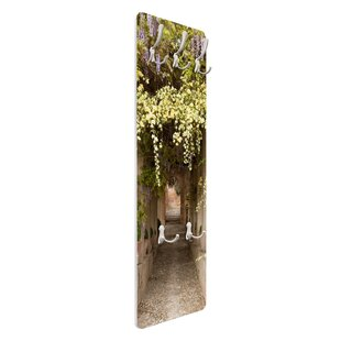 Flower Lined Pathway In Spain Wall Mounted Coat Rack By Symple Stuff