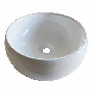 Best Deals Ceramic Circular Vessel Bathroom Sink By Arsumo