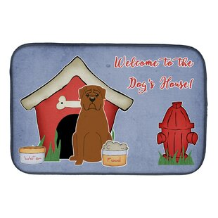 Dog House Dogue De Bourdeaux Dish Drying Mat