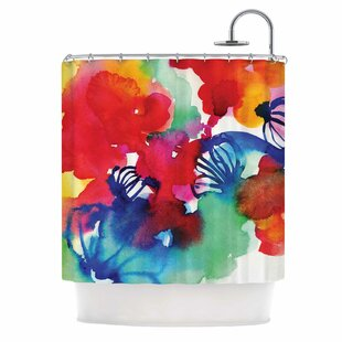 'Celebration Floral' Painting Single Shower Curtain