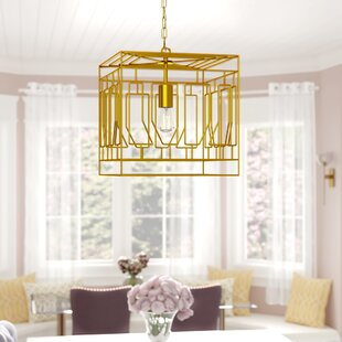 Lanford 1-Light Square Pendant by Mercer41