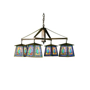 Meyda Tiffany Mackintosh Leaf 4-Light Shaded Chandelier