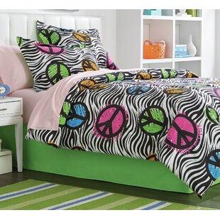 Zoomie Kids Ingle Peaceful Zebra 8 Piece Full/Double Comforter Set