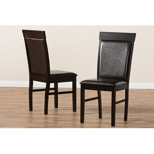 Micky Upholstered Dining Chair (Set of 2) by Wrought Studio