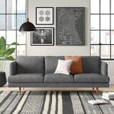"Reanna Polyester Blend 84"" Recessed Arm Sofa"